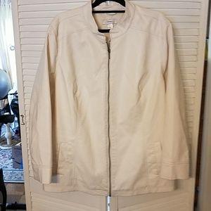 Cj Banks women's 3X psuedo leather jacket bone